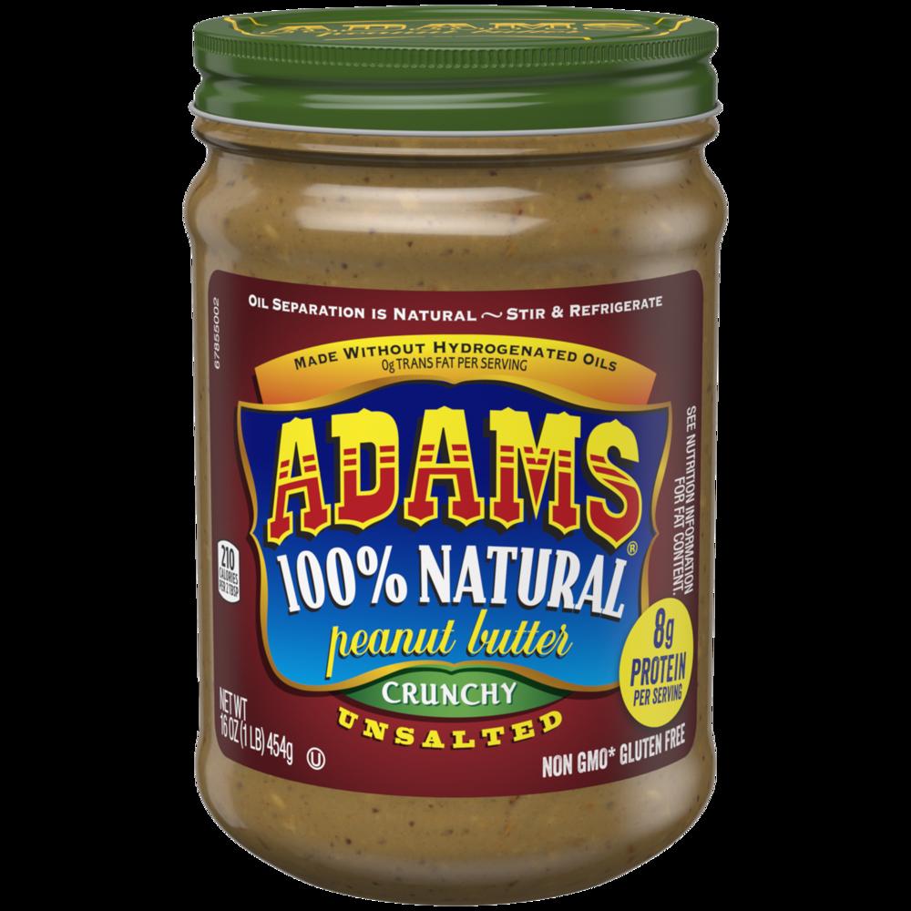 Adams Peanut Butter - Crunchy Unsalted
