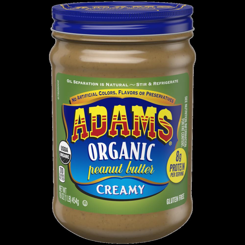 Adams Peanut Butter - Organic Creamy