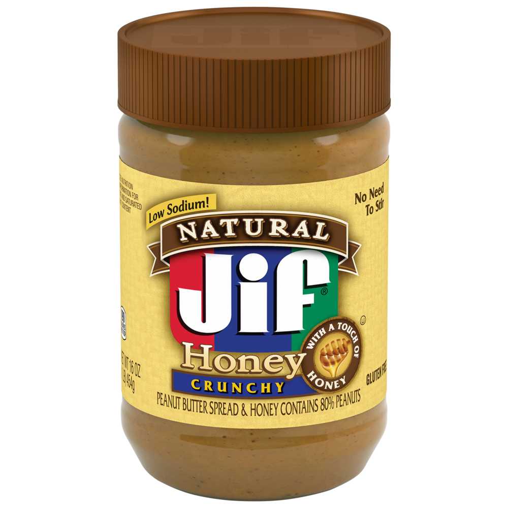 Natural Crunchy Peanut Butter with Honey