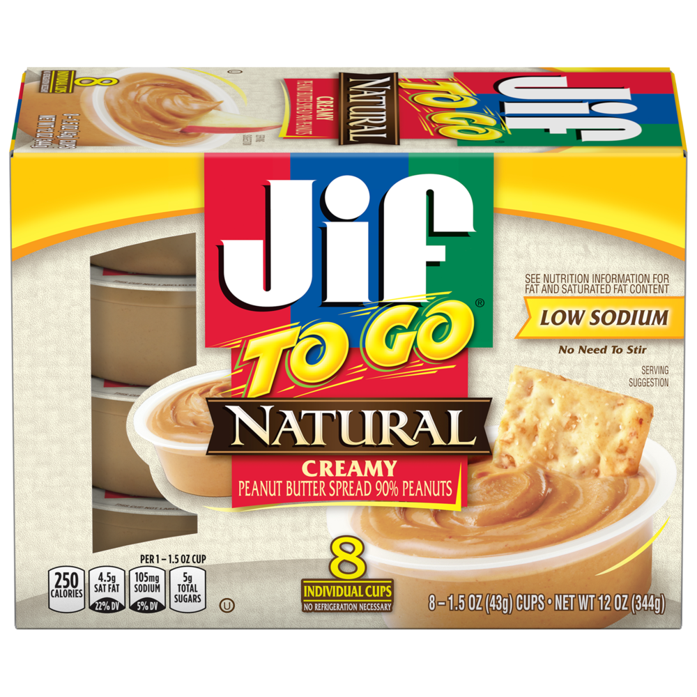 Jif To Go® Natural Creamy Peanut Butter