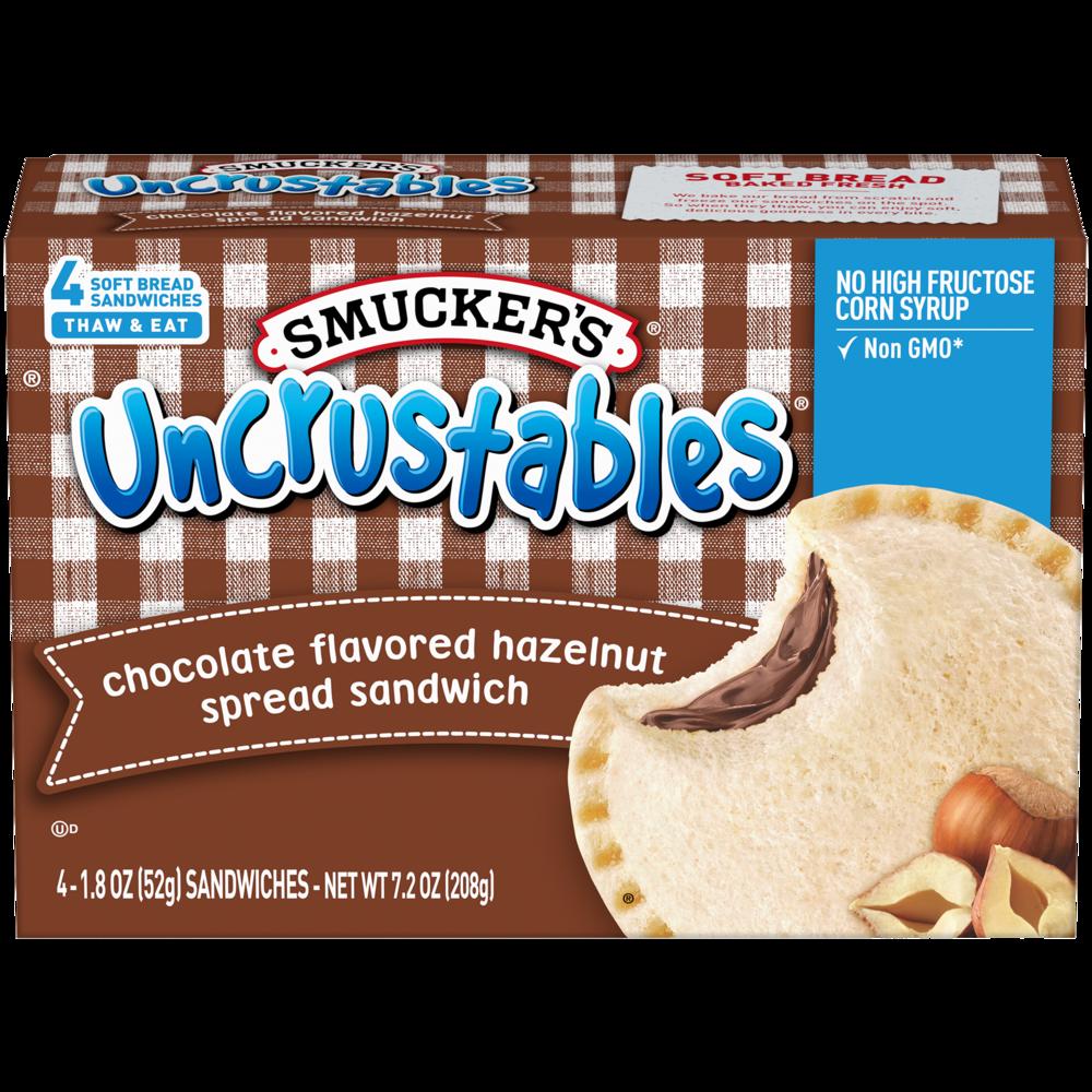 Chocolate Flavored Hazelnut Spread Sandwich
